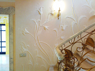 How to make an exclusive wall painting: Creating a bas-relief with your own hands. Creative opportunities to update the decor.Master class for beginners