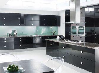 Trend baru di dunia dapur - Dapur hitam di pedalaman (220 + Kombinasi gambar dalam reka bentuk)