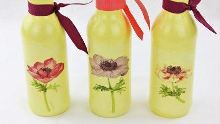 Yeni Yıl için Dekupaj şişeleri (170+ Fotoğraf).DIY takı Yeni fikirler ve atölye çalışmaları