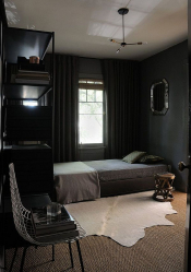 235 + Design Photos in dark colors: Dark or Cozy? Unusually stylish and trendy interior (bedroom, living room, kitchen, bathroom)