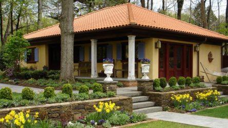 Reka Bentuk Landskap Moden halaman sebuah rumah persendirian (160+ Foto).Bagaimana untuk mengatur dan menghiasi tangan mereka dengan baik