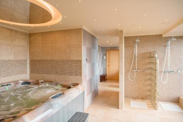 Caractéristiques de la conception d'un bain avec jacuzzi à l'intérieur de la maison et de l'appartement (120 + photo). Luxe abordable avec des avantages pour la santé. Qu'est-ce que vous devez savoir?