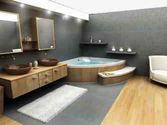 집과 아파트 내부에 자쿠지가있는 욕실 디자인 (120 + 사진). 저렴한 가격대의 건강 혜택. 당신이 알아야 할 것은 무엇입니까?