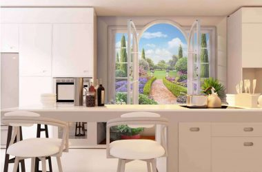 Mutfak için fotoğraf kağıdı seçimi - Herhangi bir tasarım için ilginç bir çözüm (185+ Fotoğraf)