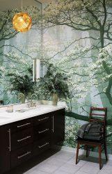 Kertas bercetak kertas di pedalaman Apartment / House: (140+ Foto) kombinasi terang dan megah