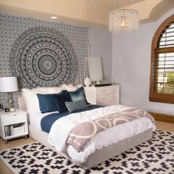 Tapisserie élégante à l'intérieur: une combinaison avec des styles, des idées de design (100 + Photo). Comment créer un design confortable avec vos propres mains? (rideaux, couvre-lits, peintures)