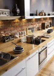 Tembok bata di pedalaman - Cara yang menakjubkan untuk mengubah rumah anda (260+ Foto).Gabungan di ruang tamu, di dapur, di bilik tidur