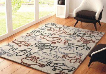 Karpet Cantik di lantai: 230+ Foto Reka Bentuk Fesyen di pedalaman moden