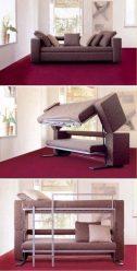 Katil tidur dengan sofa di bahagian bawah - Bergaya dan praktikal (90+ Foto)