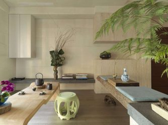 Reka bentuk apartmen dalam gaya Jepun: Tenang rumah anda. 220+ (Gambar) Interior di bilik yang berbeza (dapur, ruang tamu, bilik mandi)