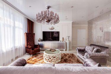 Oturma odası için modern avizeler: 195+ (Fotoğraf) İç mekan çözümleri