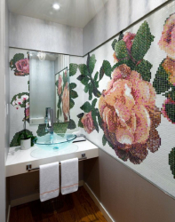 Where better to use a mosaic in the interior: in the kitchen, bathroom or living room? (180+ Photos). Inspiring design with options (wood, mirror, glass)