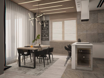 Dining area in the kitchen: Zoning, Light and Finishing. How to select and design using simple ideas? (170 + Photos)