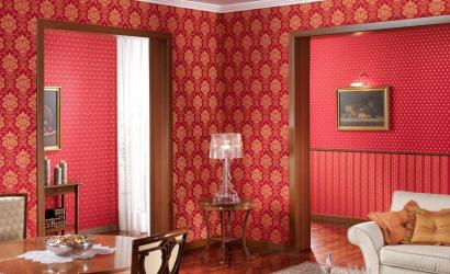 Papier peint avec sérigraphie - une œuvre d'art dans un intérieur. Design en soie exclusif 125+ Photo