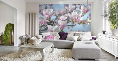 Oturma odasında güzel duvar kağıtları: 150 + İç mekan fotoğrafları.Modern birleştirme fikirleri