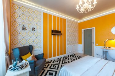Yatak Odası Duvar Kağıdı Kombinasyonu: İç Mekan Kombinasyonlarının 240+ Fotoğrafı