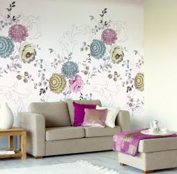 꽃 초원에서의 삶이나 꽃에서 적절한 벽지를 선택하는 방법. 170+ (사진) 일상 생활의 회색으로 피는 로맨스