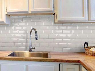 Tile untuk apron di dapur (180+ Design Photos): tips yang akan membuat dinding anda menjadi hidup