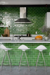 Porc à l'intérieur: Caractéristiques et modes de pose (tablier de cuisine, sol, salle de bain, murs). Quel est le secret de la popularité? (120 + photos)