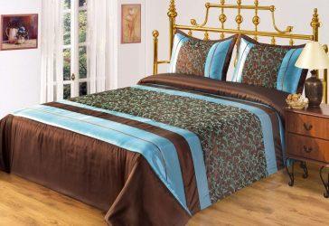 Yatak odasında yatak örtüdeki modern tasarım - Güzel ve Şık Yeni (170+ Fotoğraflar)