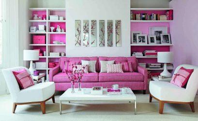 Kisah dongeng merah jambu: 220+ (Foto) kombinasi pilihan di pedalaman bilik yang berbeza