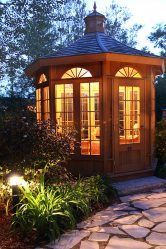 Variants of beautiful garden Pavilions do-it-yourself (245+ Photos) - How to turn into a real decoration? (wooden, metal, polycarbonate)