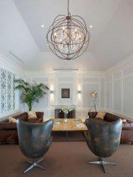 Lampu Moden di pedalaman: 175+ (Foto) Siling, Dinding, Memusing