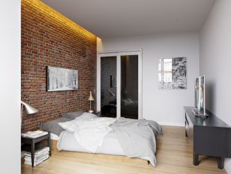 Chambre étroite: options de design. Toutes les subtilités d'un placement optimal (115+ Photos)