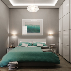 Chambre étroite: options de design.Toutes les subtilités d'un placement optimal (115+ Photos)