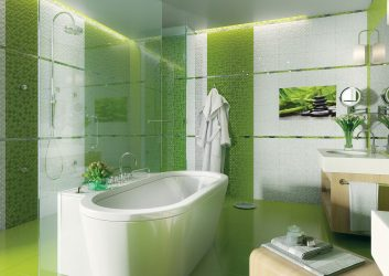 Reka bentuk bilik mandi bergaya tanpa tandas (+100 Foto) - Kecantikan digabungkan dengan keselesaan