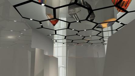 Καθρέπτης οροφής: Διαθέτει εσωτερικές λύσεις (στο μπάνιο, σαλόνι, διάδρομο).Εξαιρετικό φινίρισμα για μια δραματική εμφάνιση.