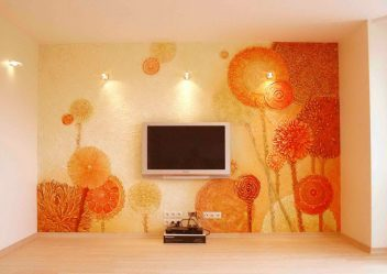 Sıradan odaların içlerinde sıvı duvar kağıdı (150+ Fotoğraf): Kullanım özellikleri